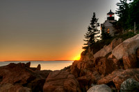 Bass Harbor Sunset -- HDR