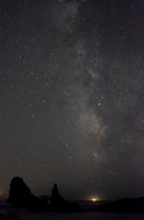 The Milky Way with Cape Blanco Light